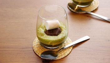 「白井田七。茶」の緑茶マシュマロムースの写真