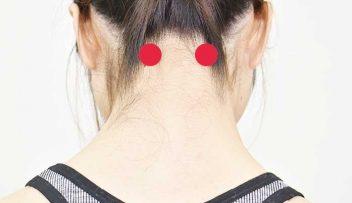 頭痛のセルフケアとツボ「天柱」「合谷」の画像
